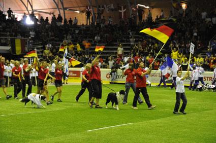 Einzug der deutschen Mannschaft beim großen Finale